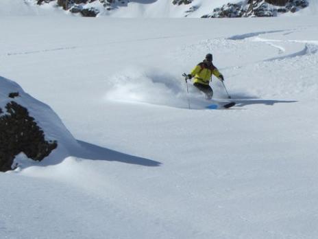 Les Arcs ski hors piste - Aiguille Rouge