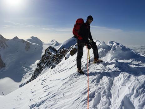 Arrivée au sommet occidental, 4479m