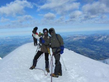 Sommet du Mont Blanc pour Gilles et Olivier