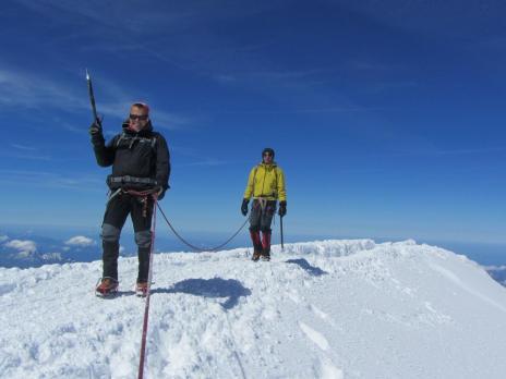 Ascension du Mont Blanc, le sommet