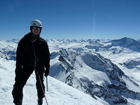 vue sur la Sache depuis le sommet du Mont pourri