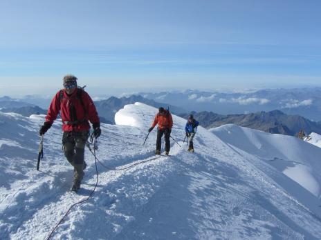 Alpinisme au Mont Rose - La Pointe Gnifetti