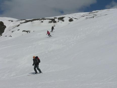 Bonne neige à la descente