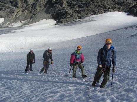 Randonnée glaciaire, glacier de Rheme Golette