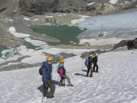 Randonnée glaciaire Pointe de la Gollette avec les Guides des Arcs