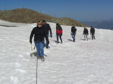 Les Arcs randonnée glaciaire à l' Aiguille Rouge