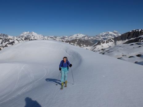 Randonnée à ski en Vanoise l'ouille Noire