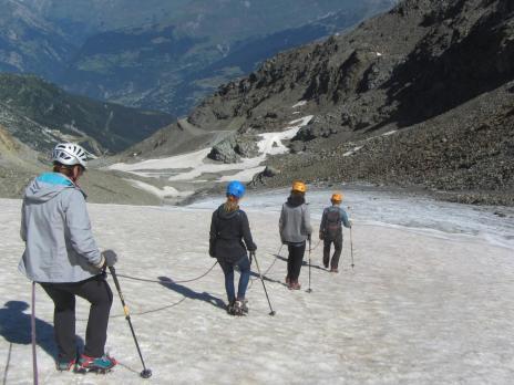 randonnée glaciaire Les Arcs Vallandry