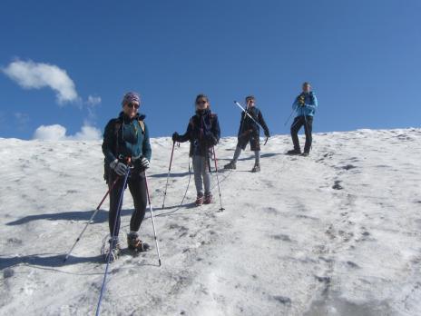 Randonnée glaciaire en Vanoise le glacier de Rhêmes Golette.
