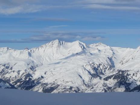 Le massif du Beaufortain vu de Sainte Foy