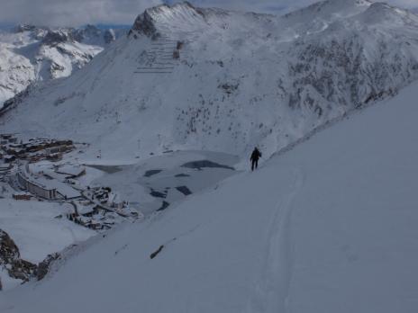 Ski de randonnée au dessus de Tignes