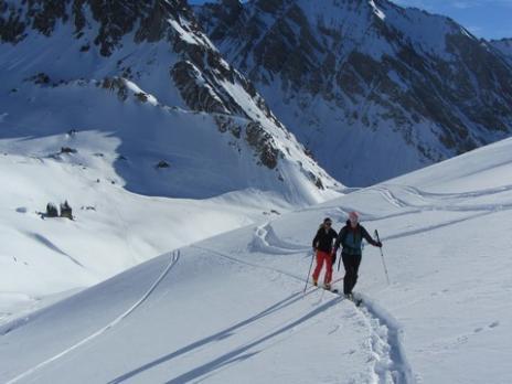 Ski de randonnée dans le Beaufortain, le col de la Charbonniére