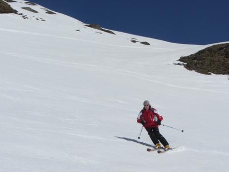 Ski de randonnée aux Arcs - Descente combe de la Commune