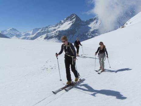 Ski de randonnée aux Arcs - Montée Crête des Lanchettes