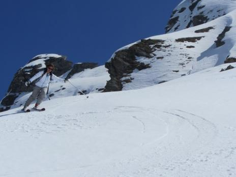 Ski de randonnée aux Arcs - Descente vers Peisey