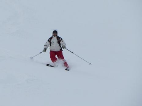 Ski de randonnée descente sous le Fort de la Platte