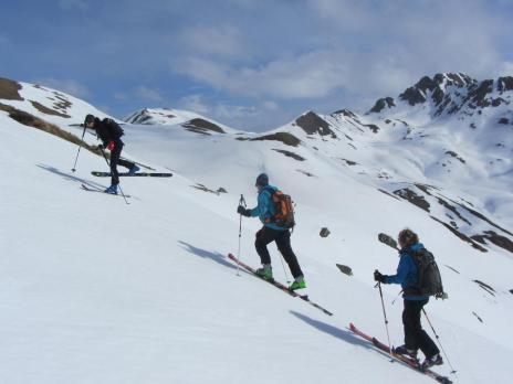 ski de randonnée Beaufortain montée à la Pointe de Dzonfié