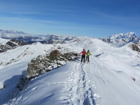 Ski de randonnée dans le Beaufortain montée à la Pointe de Dzonfié