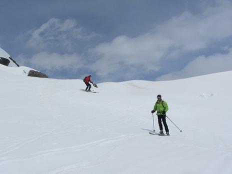 Ski de randonnée dans le Beaufortain, le col de la Charbonnière.