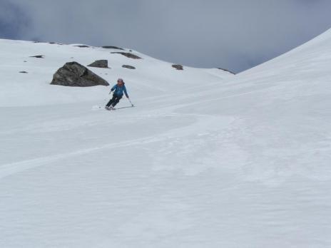 ski de randonnée Beaufortain descente de à la Pointe de Dzonfié