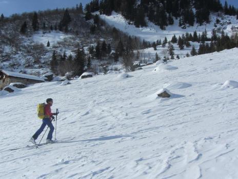ski de randonnée - montée au col de Portette Beaufortain