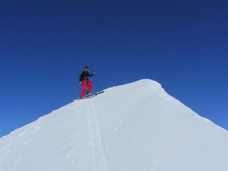 Ski de randonnée, le sommet de l'Homme Cairn