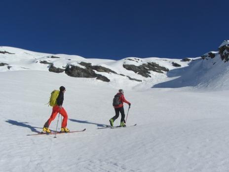 Ski de randonnée en Vanoise Montée au col de la Louie Blanche
