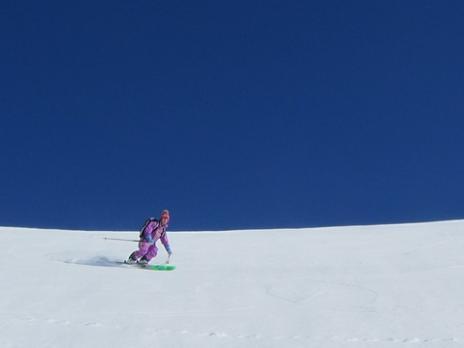 Hors piste ski de rando au Mont Jovet Dou de Moutiers - La Plagne