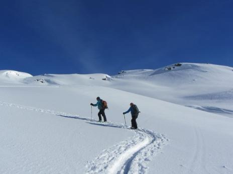 Ski de randonnée vallée de Névache, montée à Roche Chateau