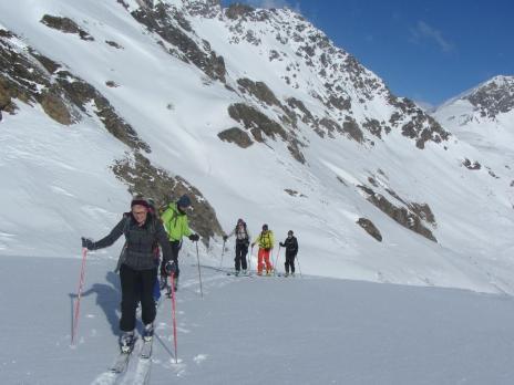 Ski de randonnée à Val d'Isère - montée à la Pointe de Bezin