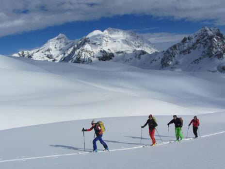 Ski de randonnée au départ de Tignes Tuf de Grassaz