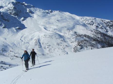 Ski de randonnée en haute Tarentaise. montée au Col de Montséti