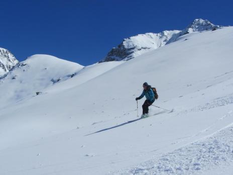 Ski de randonnée en haute Tarentaise. Descente col de Montséti