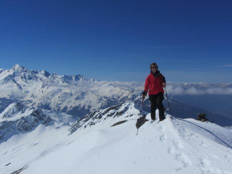 ski de randonnée en Vanoise - montée à la pointe Rousse, le sommet.