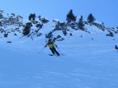 ski hors piste aux Arcs - Couloir de Comborsière