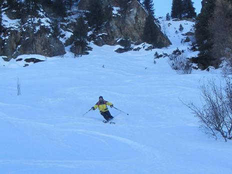 ski hors piste aux Arcs - Couloir de Chavonne