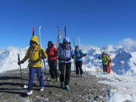 Ski de randonnée à Val d'Isère - Pointe de Bezin
