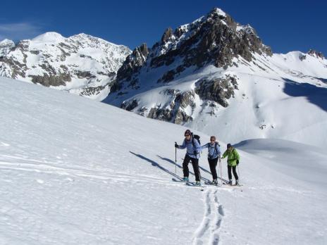 Tignes ski de randonnée Col du Palet, Aiguille de Bacque, Plan de Grassaz