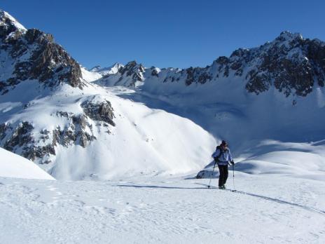 Tignes - ski de randonnée col du Palet Aig de Bacque