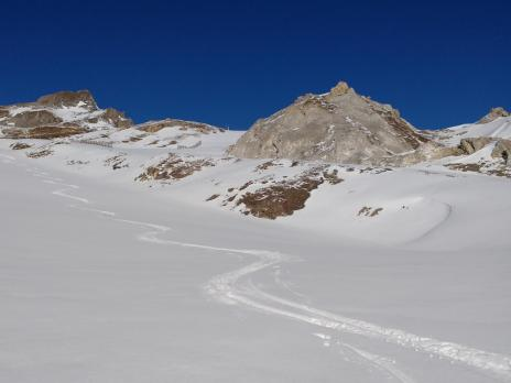 ski de randonnée au départ de Tignes
