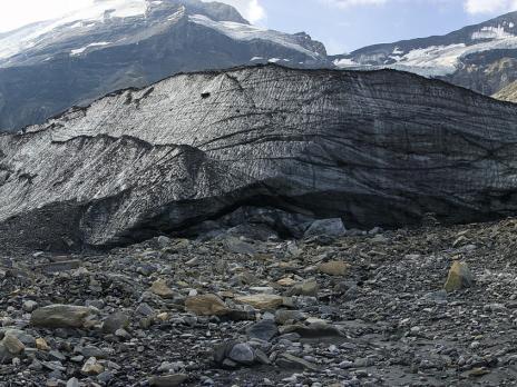 le front du glacier de Pramort