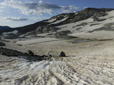 Le glacier du Pelve.