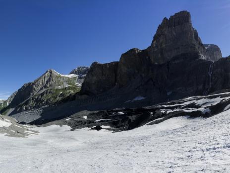 Sur le glacier de Pramort.