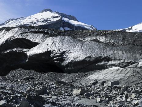 La langue terminale du glacier.