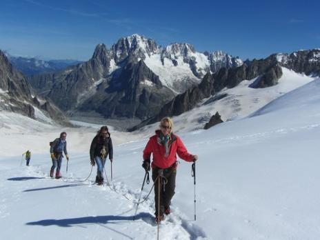 Vallée Blanche - l' Aiguille Verte - guides des Arcs
