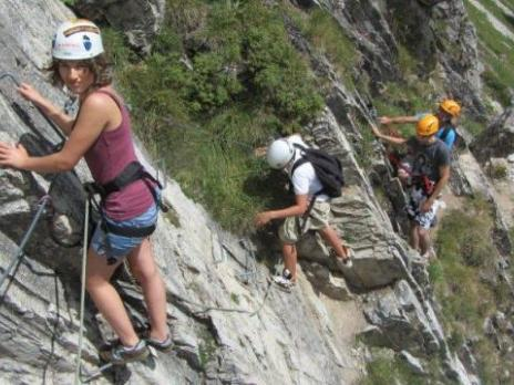 Départ de la via ferrata des Plat de la Daille - Val d'Isère