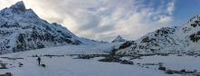 l'emplacement de bivouac au pied du glacier