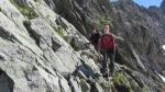 escalade pour le col du Tondu